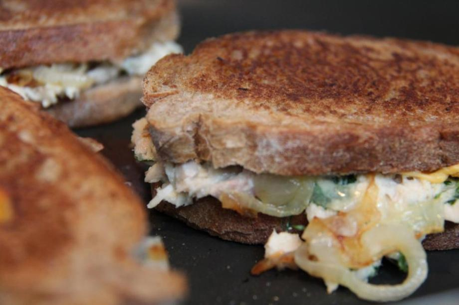 Herby Tuna Melts with Caramelized Onions