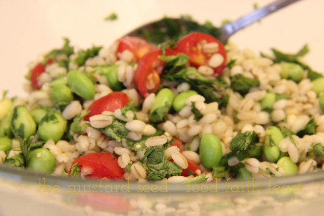 Barley with Fresh Herbs and Edamame