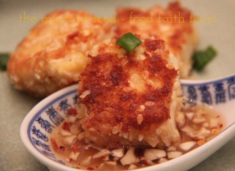 Sesame Crusted Tofu with Nuoc Cham