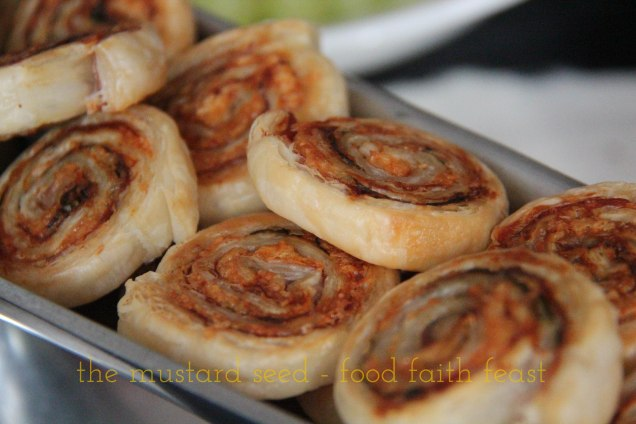Proscuitto, Basil and Parmesan Pinwheels