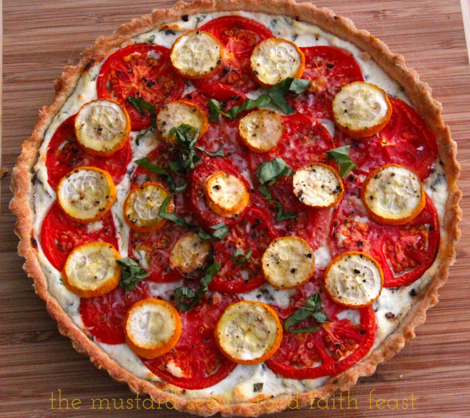 Tomato and Yellow Squash Tart