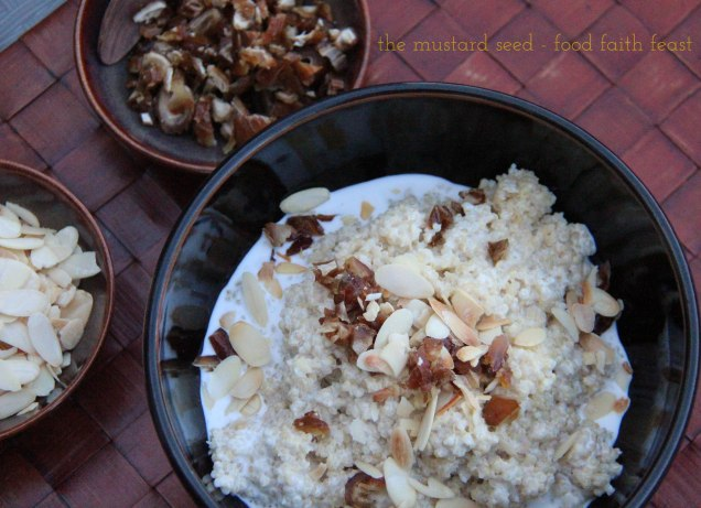 Toasted Almond and Coconut Quinoa
