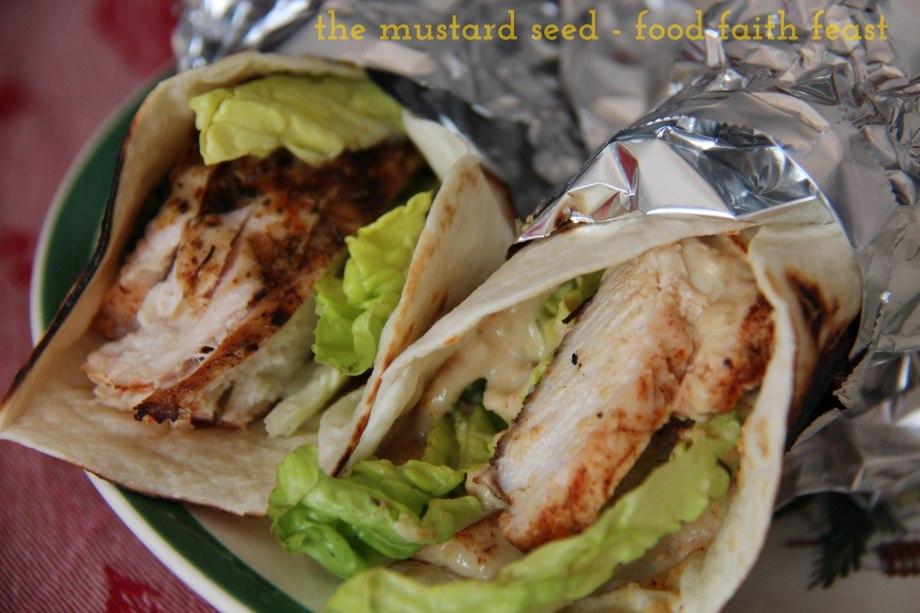 Street Food Chicken and HummusWrap