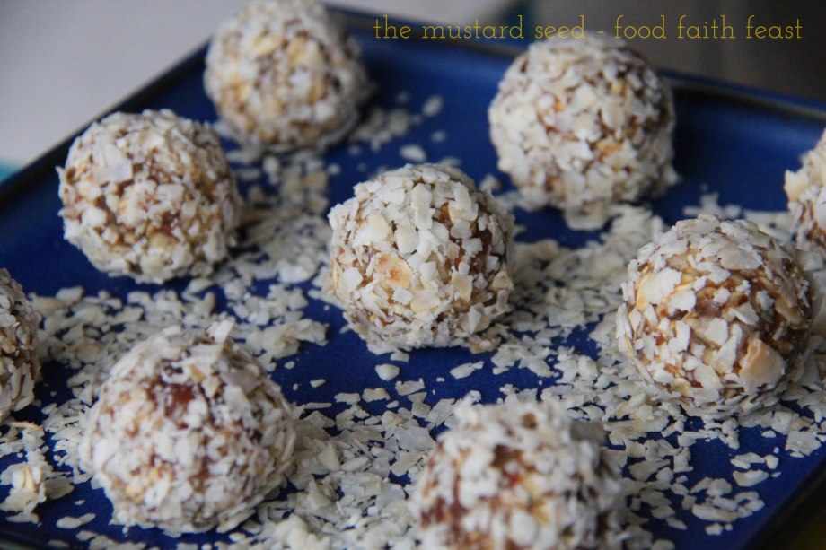 Date, Nut and Coconut Bites