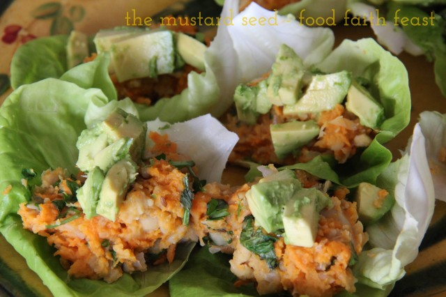 Sweet potato and chick pea cups