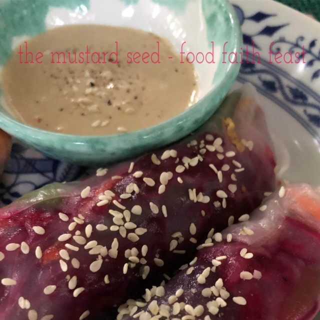 Spring Rolls with Beets